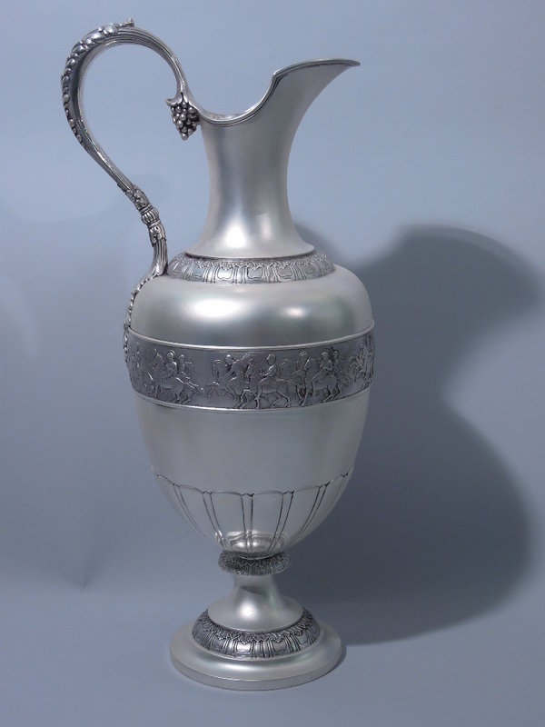 Very Large Classical Sterling Silver Ewer by Tiffany C 1885