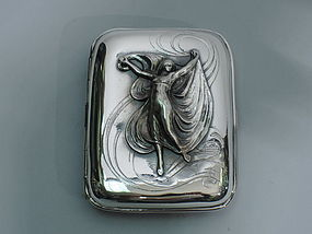 Art Nouveau Sterling Silver Cigarette Case by Gorham