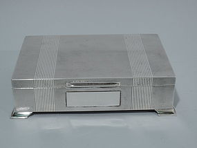 Elegant English Sterling Silver Desk Box 1958