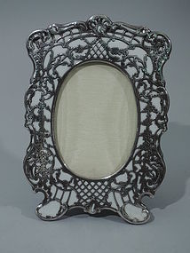 Rococo White Porcelain Frame with Silver Overlay C 1900