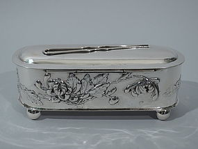 Chinese Export Silver Vanity Box C 1900