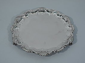 Georgian Salver Tray - English Sterling Silver 1911