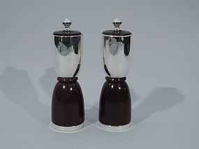 Cartier Midcentury Sterling Silver Pepper Grinders