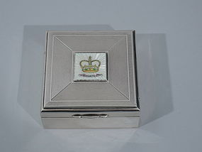 Elizabeth II Coronation Commemorative Box - English Sterling Silver