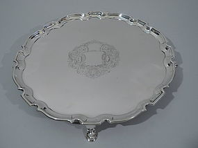 Tiffany Sterling Silver Salver Tray - After English Georgian C 1922