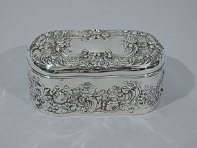 Antique Sterling Silver Desk Box by Gorham 1901