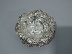 Set of 6 Art Nouveau Sterling Silver Nut Dishes by Kerr