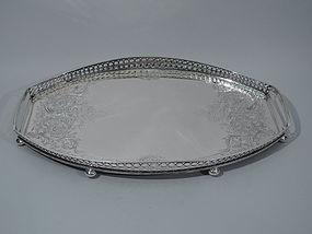 Antique Tiffany Sterling Silver Serving Tray
