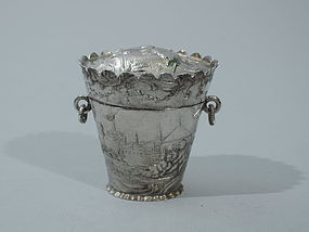 Antique Dutch Peppermint Pail - Rococo Sweets Box
