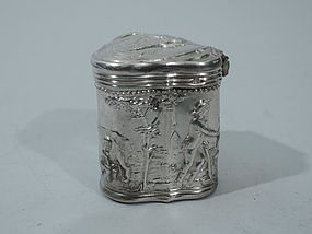 Antique Dutch Silver Peppermint Box