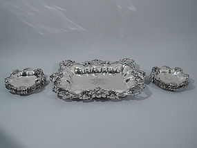 Art Nouveau Sterling Silver Ice Cream Serving Set by Kerr
