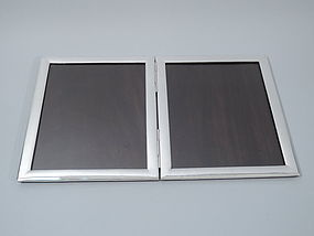 American Sterling Silver Double Picture Frame - Large Diptych