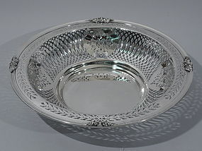 JE Caldwell Sterling Silver Pierced Bowl C 1910