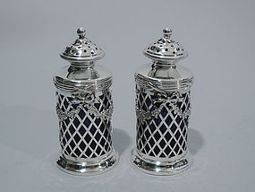 Pair of Tiffany Neoclassical Sterling Silver Salt & Pepper Shakers