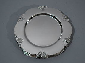 Set of 12 Art Deco Sterling Silver Bread & Butter Plates C 1930