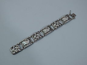 Early Georg Jensen No. 42 Sterling Silver Swan Bracelet C 1935