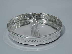 Tiffany Sterling Silver and Glass Appetizer Dish C 1927