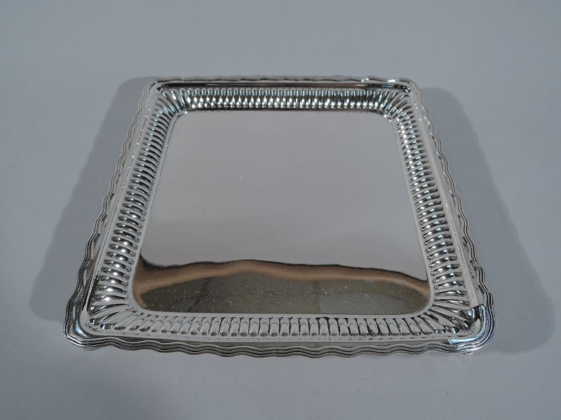 Charming Sterling Silver Square Salver Tray by Gorham
