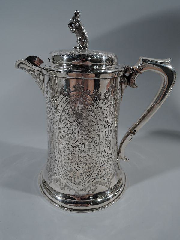 Antique Scottish Sterling Silver Coffeepot 1862