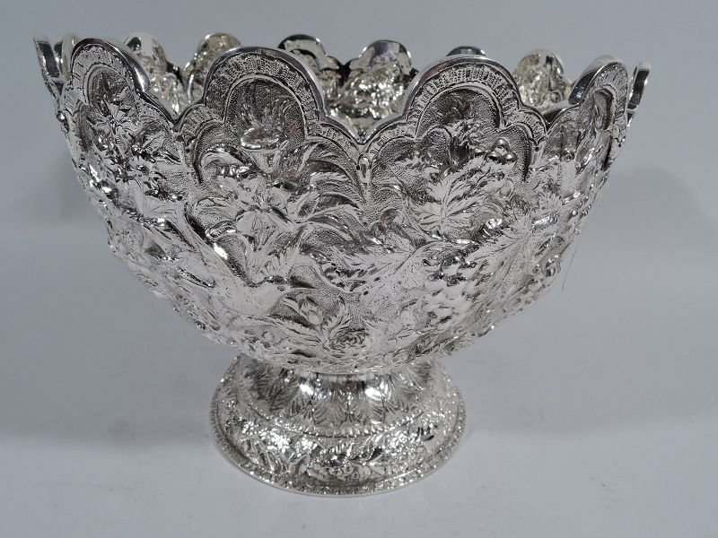 Antique Repousse Silver Footed Bowl by Historic Kirk of Baltimore