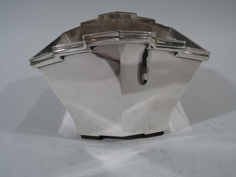French Art Deco Silver Skyscraper Ice Bucket by Tetard Freres