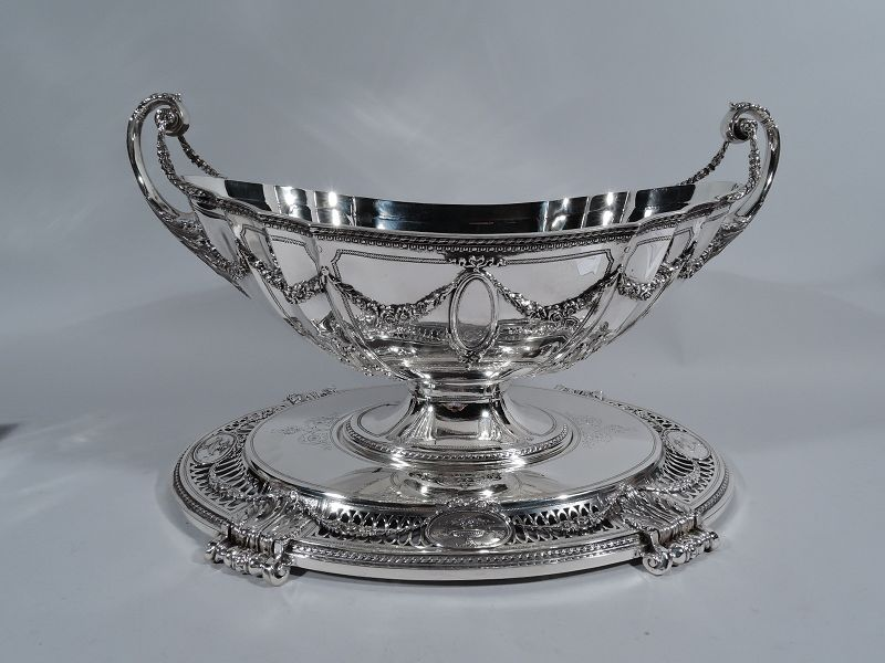 Bailey, Banks & Biddle French Neoclassical Centerpiece Bowl on Plateau