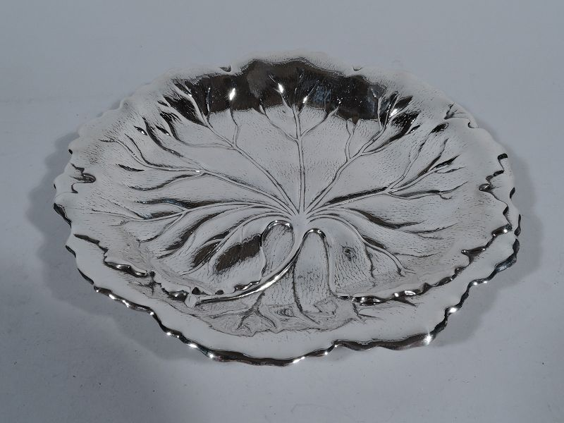 Beautiful Sterling Silver Leaf Bowl by International