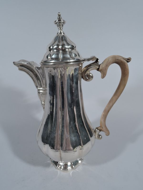 Antique Italian Silver Coffeepot in 18th-Century Style
