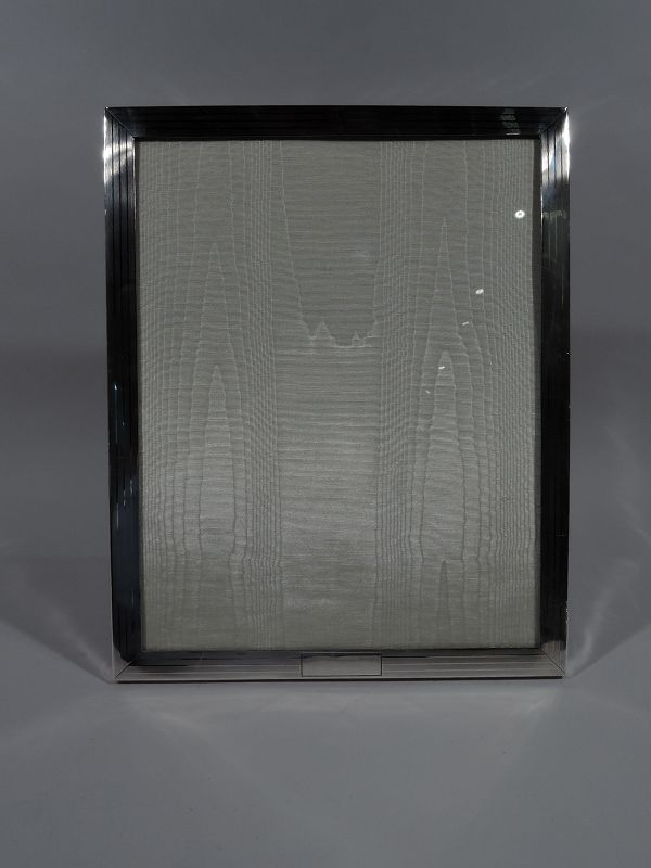 Large American Modern Sterling Silver Picture Frame by JE Caldwell