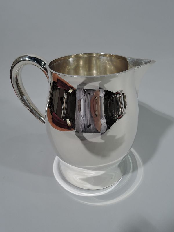 Tiffany Midcentury Modern Sterling Silver Water Pitcher