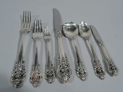 Sterling Wallace Grande Baroque Hollow Butter Spreader 6 1//8 Inches