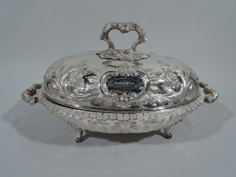 Of Presidential Interest - Serving Dish Presented to Franklin Pierce