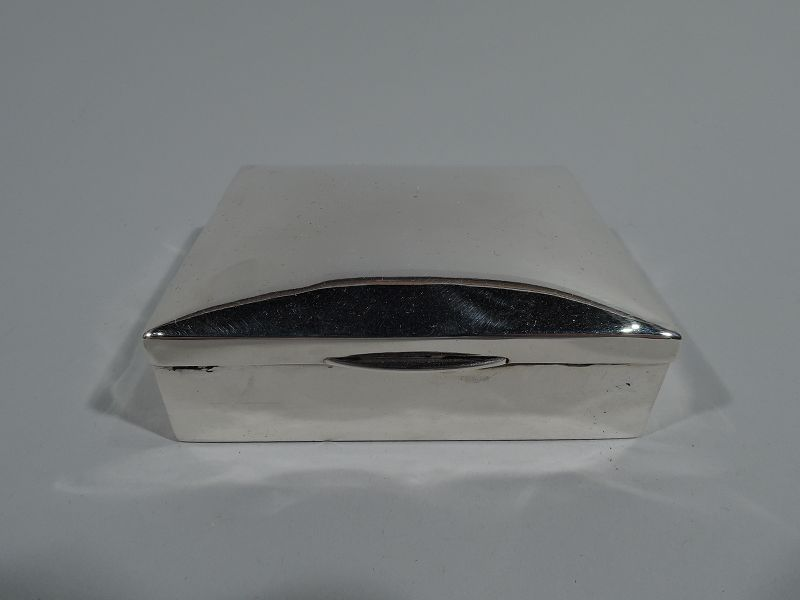 Antique English Sterling Silver Trinket Box 1918