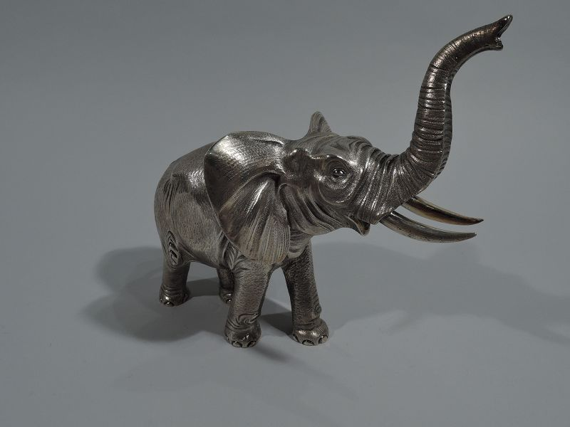 A Mighty Beast – Elephant Silver Figure by French Maker Bry & Cie