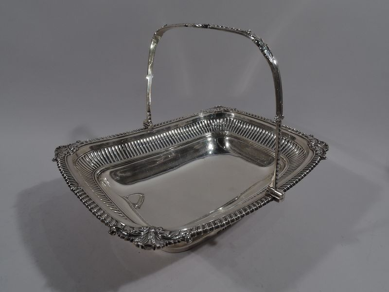 English Regency Neoclassical Sterling Silver Basket by Paul Storr
