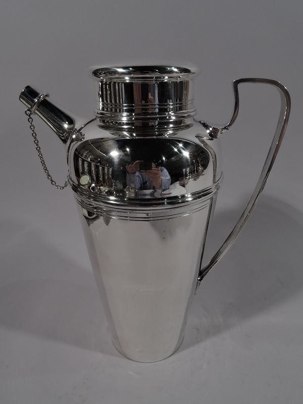 Tiffany American Art Deco Sterling Silver Cocktail Shaker