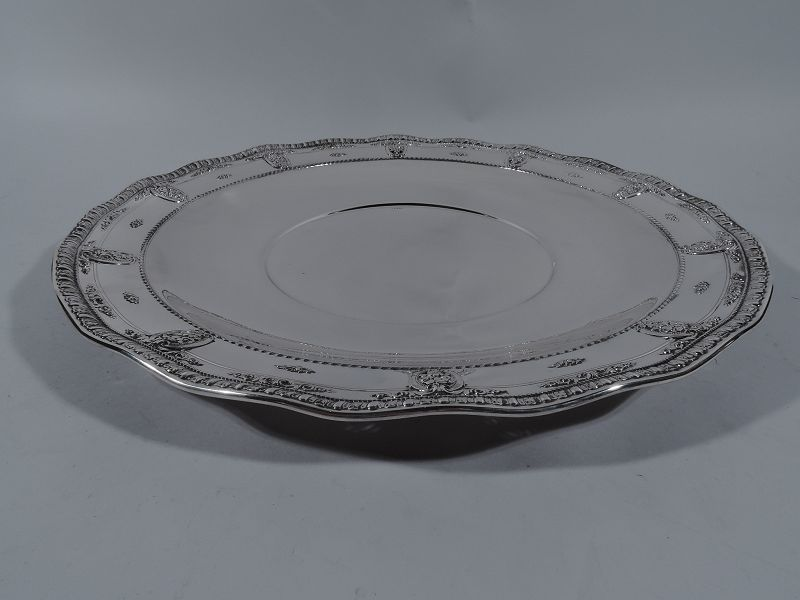 Wallace Rose Point Sterling Silver Charger Platter