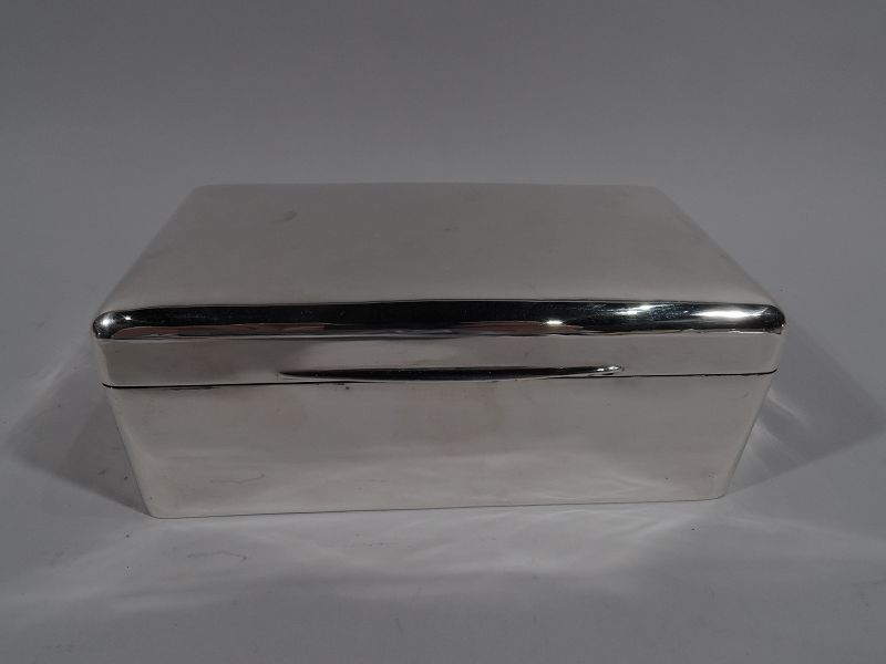 Antique English Edwardian Modern Sterling Silver Box 1905