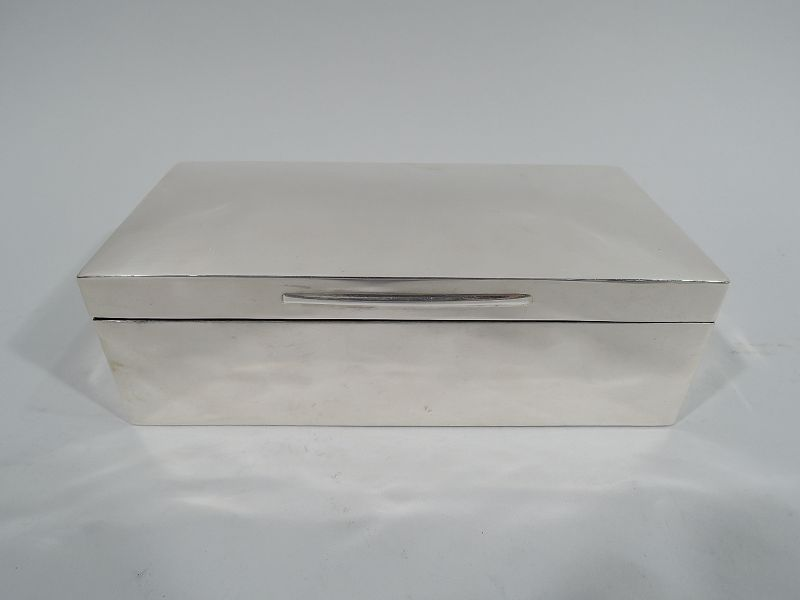 English Victorian Modern Sterling Silver Box 1897